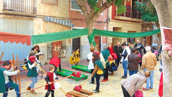 """Frailes Plaza hosts a """"Medieval Fair"""" for the local children."""