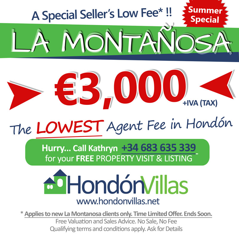 Summer Special Fee for La Montanosa Sellers